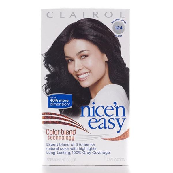 clairol nice n easy 124 blue black hair color pack - Clairol Nice And Easy Colors