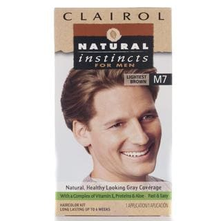 Clairol Natural Instincts Men's #M7 Lightest Brown Hair Color (Pack of 4)