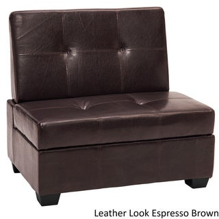 Vanderbilt Butler Tufted Panel Sticthed Padded Hinged Storage Chair Bench