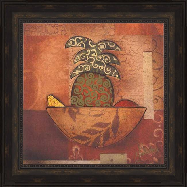 Barton 'Pineapple Paradise' Embellished Framed Print Art