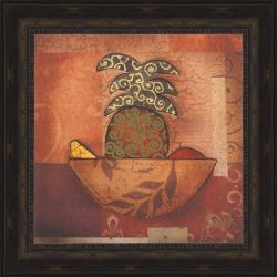 Barton 'Pineapple Paradise' Embellished Framed Print Art - Thumbnail 1