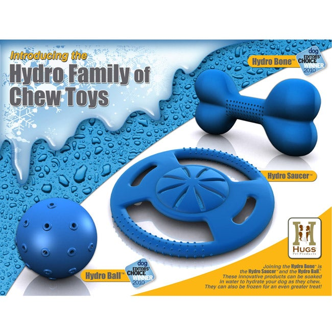 Hydro Freeze Family Pack Freezable Blue Molded-rubber Pet Toys