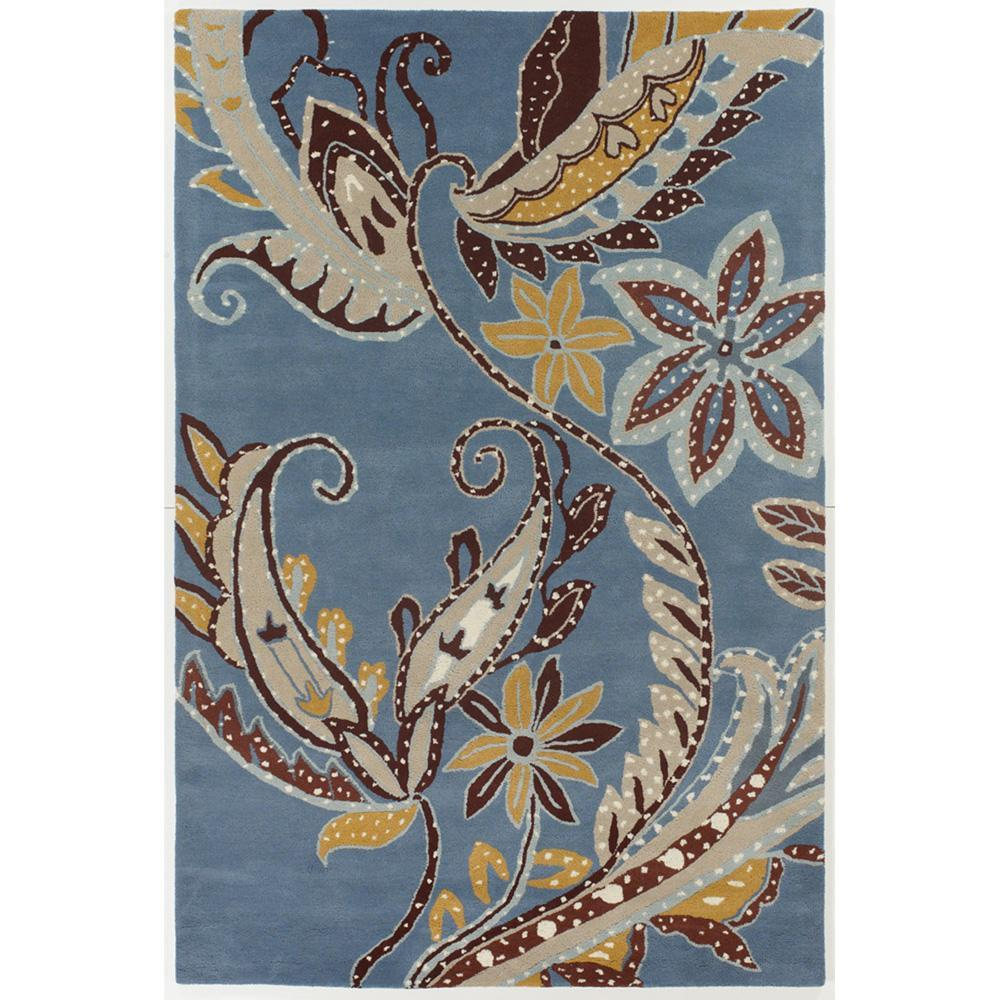 Hand-Tufted Multicolor Floral Mandara New Zealand Wool Rug (7'9 x 10'6)