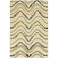Artist's Loom Hand-knotted Contemporary Geometric Wool Rug (7'9x10'6) - 7'9 x 10'6