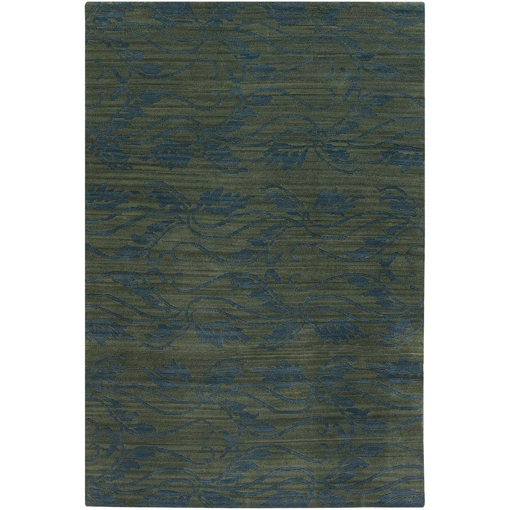 Artist's Loom Hand-knotted Transitional Floral Wool Rug (7'9x10'6) - 7'9 x 10'6