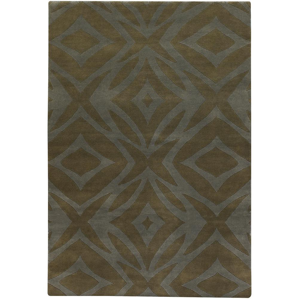 Artist's Loom Hand-knotted Contemporary Geometric Wool Rug (9'x13') - 9' x 13'