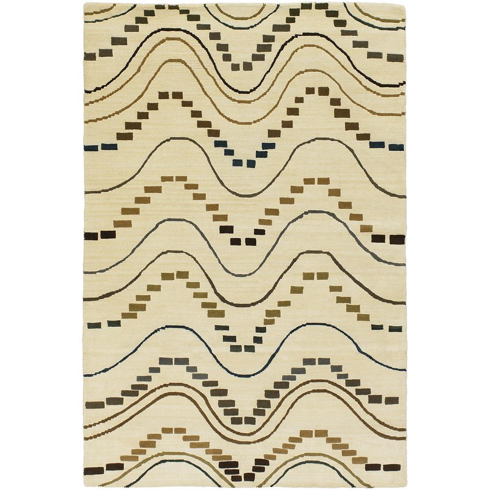 Artist's Loom Hand-knotted Contemporary Geometric Wool Rug - 9' x 13'