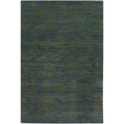 Artist's Loom Hand-knotted Transitional Floral Wool Rug (9'x13') - 9' x 13' - Thumbnail 0
