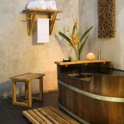 Teak Wood 4-piece Spa Tub Set (Thailand) - Thumbnail 1