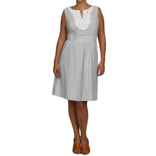 Jessica Howard Women\'s Plus Size Lace Seersucker Dress - Free ...