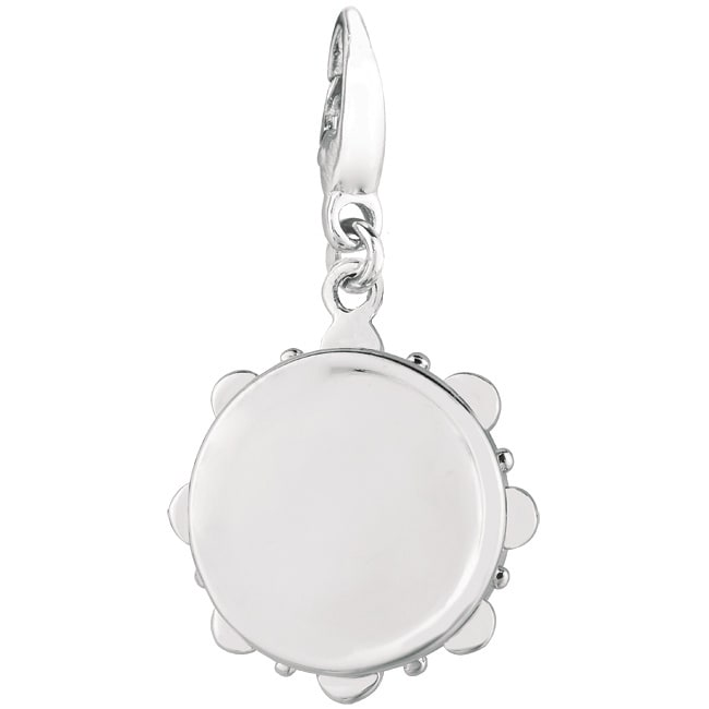 Sterling Silver Tambourine Charm