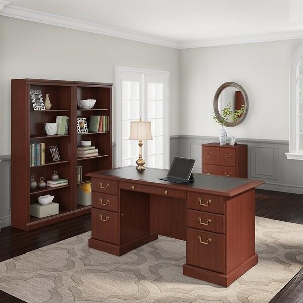Shop Saratoga Executive Desk File Cabinet And 5 Shelf