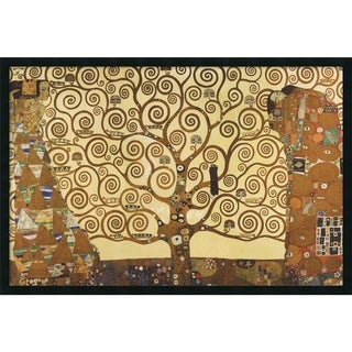 Gustav Klimt 'The Tree of Life, 1905-1911' 37 x 25-inch Framed Art Print with Gel Coated Finish