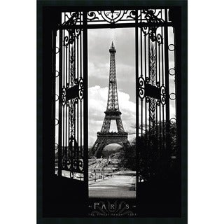 'Eiffel Tower 1909' 25 x 37-inch Framed Art Print with Gel Coated Finish