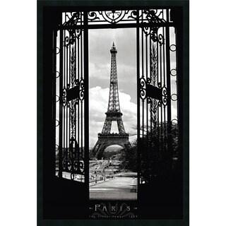 Framed Art Print Eiffel Tower 1909 26 x 38-inch