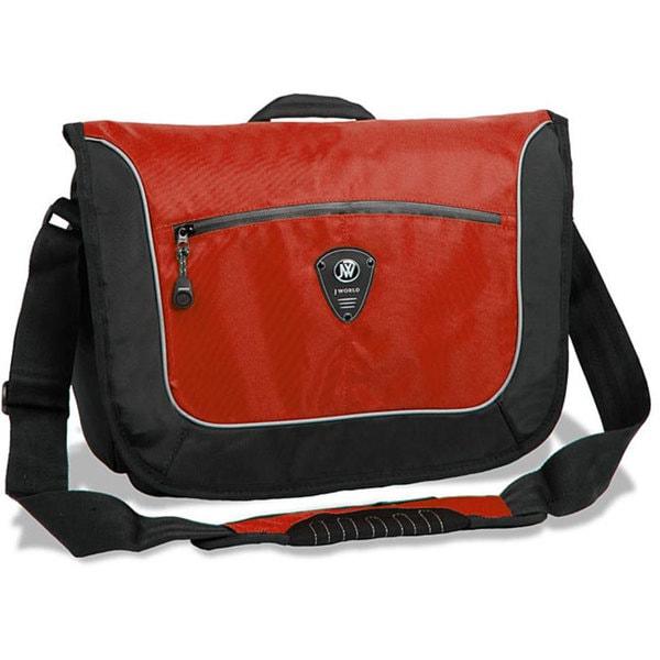 J World 'Windgate' Red Messenger Bag