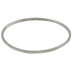Victoria Kay Sterling Silver 3/4ct TDW Diamond Stackable Bangle Bracelet (J, I2-I3)