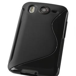 INSTEN Black TPU Rubber Phone Case Cover for HTC Desire HD - Thumbnail 1