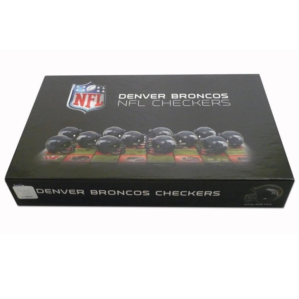 Rico Denver Broncos Checker Set