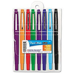 Papermate Flair Point Guard Assorted Porous Point Stick Pens (Set of 8)|https://ak1.ostkcdn.com/images/products/5870922/Papermate-Flair-Point-Guard-Assorted-Porous-Point-Stick-Pens-Set-of-8-P13580640.jpg?impolicy=medium