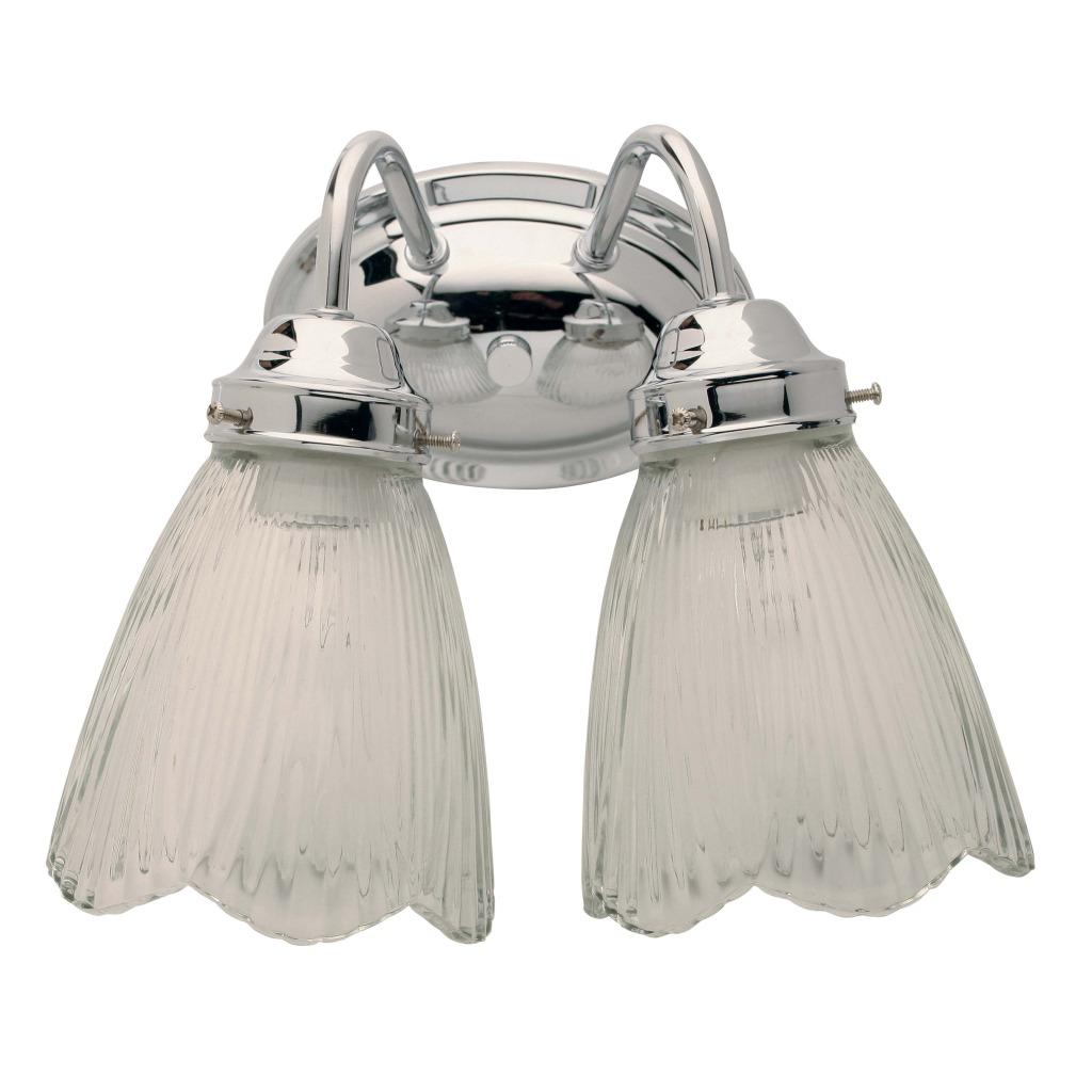 Transitional 2-light Chrome Bath Wall Sconce - Free ...