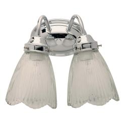 Transitional 2-light Chrome Bath Wall Sconce - Thumbnail 1
