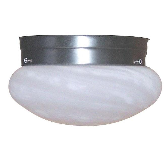 Transitional Brushed Nickel 1-light Flush Mount
