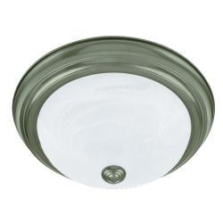 Transitional 2-light Jade Mist Flush-mount Fixture