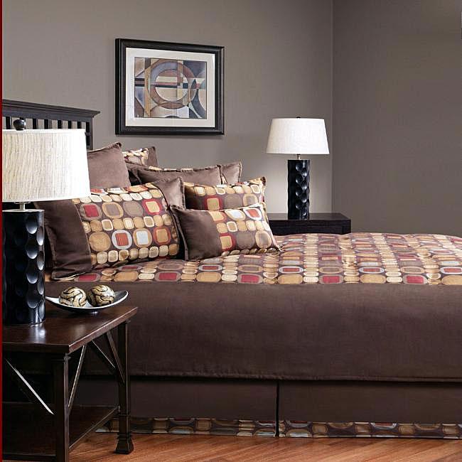 Sherry Kline Metro E Suede 8 Piece Comforter Set