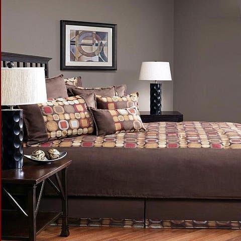 PCHF Metro Spice Suede 8-piece Comforter Set