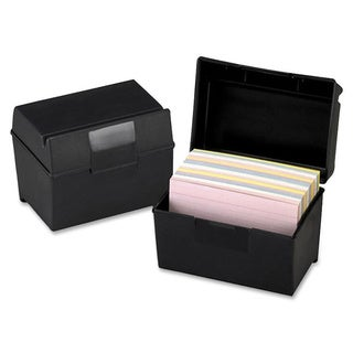 Oxford Plastic Index Card Flip Top File Box