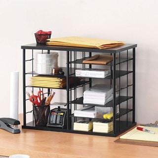 Link to Rubbermaid 12-Slot Organizer, MDF, Desktop Sorter, Black - 21 x 11.75 x 16 Similar Items in Storage & Organization