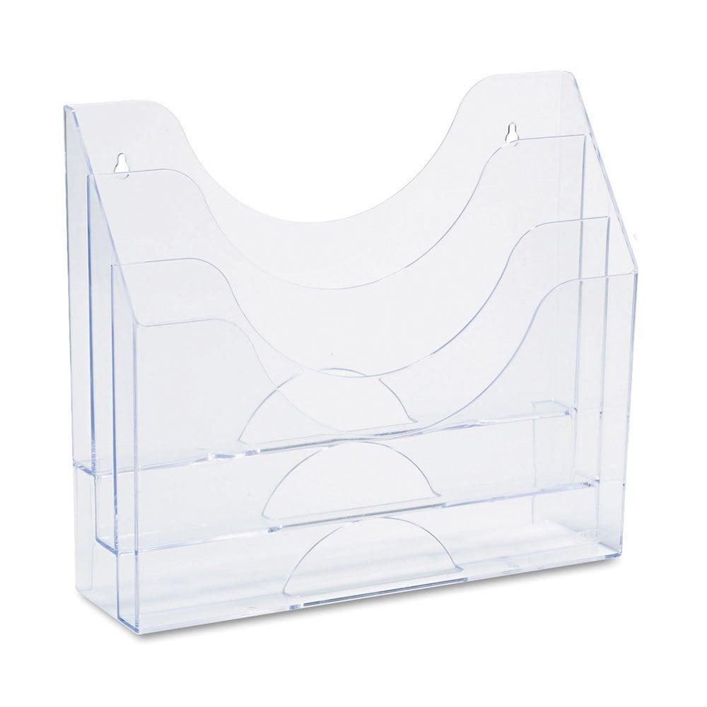 Rubbermaid Clear Plastic 3-pocket File Folder Organizer (...
