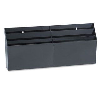 Rubbermaid Optimizers 26.65 x 3.8 x 11.56 Black 6-pocket Organizer