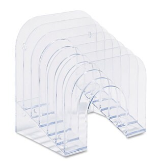Rubbermaid Jumbo 6-tier Clear Plastic Incline Sorter