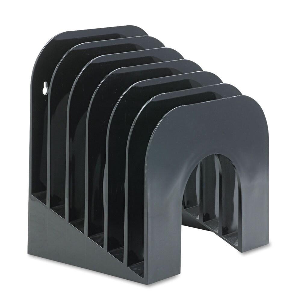 Rubbermaid 6-tier Black Plastic Jumbo Incline Sorter (Black)