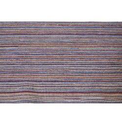 Hand-knotted Mediterranean Blue Stripe Wool Rug (8' x 10') - Thumbnail 1