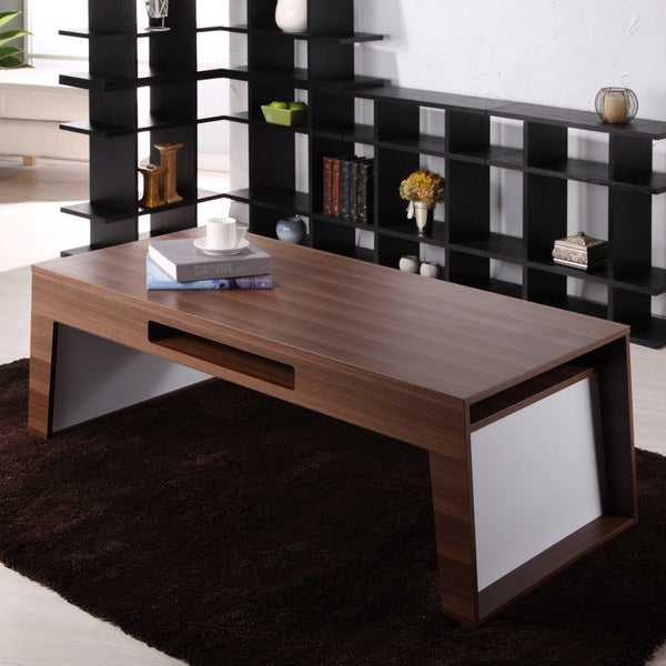 Furniture Of America Atrix Wooden Walnut Coffee Table Free Shipping Today