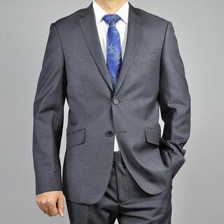 Men's Charcoal Gray 2-button Slim-fit Suit