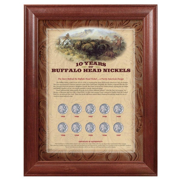 American Coin Treasures Framed Buffalo Nickels