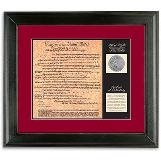 American Coin Treasures Commemorative Silver Coin and Bill of Rights Facsimile