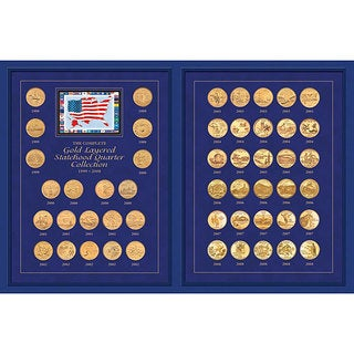 American Coin Treasures Gold Layered Statehood Quarter Collection (1999-2008)
