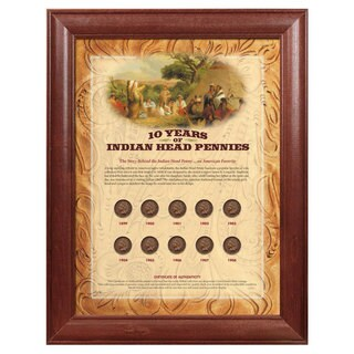 American Coin Treasures Framed Indian Head Pennies