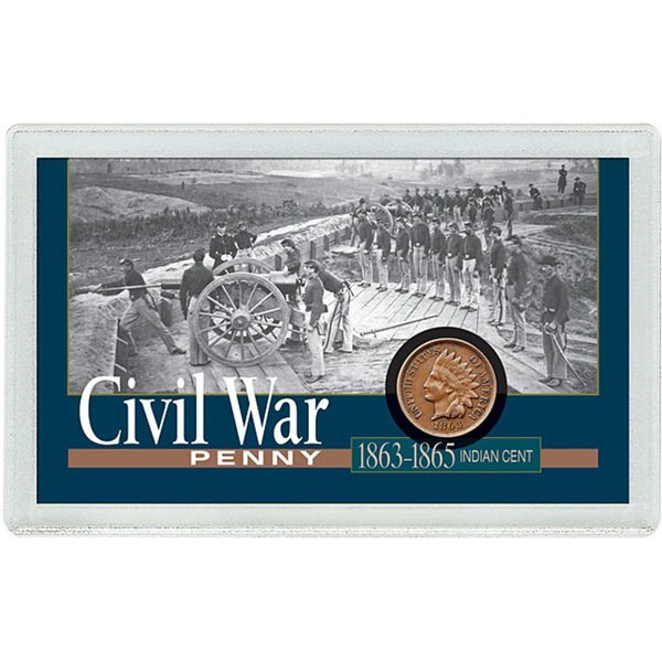 American Coin Treasures Civil War Penny Mounted in Protective Case