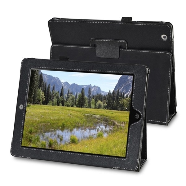 INSTEN Embossed Leather Tablet Case Cover with Stand for Apple iPad 2
