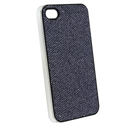 INSTEN Snap-on Black Bling Phone Case Cover for Apple iPhone 4