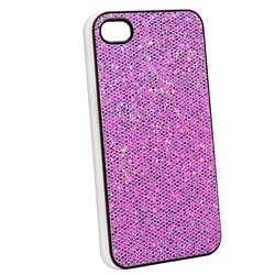 INSTEN Snap-on Purple Bling Phone Case Cover for Apple iPhone 4 - Thumbnail 1