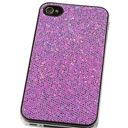 INSTEN Snap-on Purple Bling Phone Case Cover for Apple iPhone 4 - Thumbnail 2