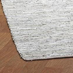 Matador White Hand Woven Leather Rug 2 6 X 4 2 Free