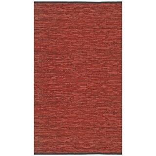 Hand-woven Copper Matador Leather Rug (5' x 8')